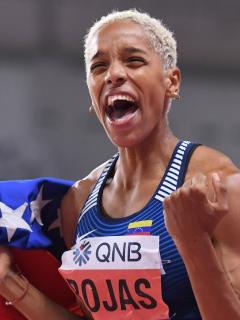 Yulimar Rojas, rival de Ibargüen en los Olímpicos, bate récord mundial bajo techo