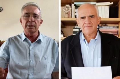 Álvaro Uribe y Ernesto Samper