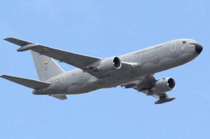 """El Boeing 767 """"Jupiter"""" de la Fuerza Aérea Colombiana."""