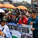 Marcha de profesores en Colombia.