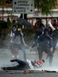 8 heridos y 5 detenidos: el saldo de la Alcaldía al finalizar el viernes de paro