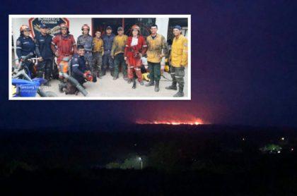 Controlado incendio en La Macarena.