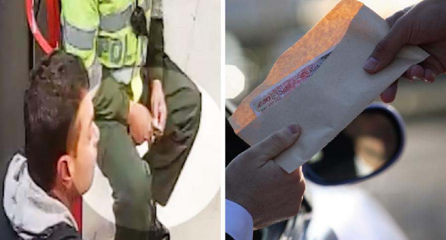 Policía recibiendo supuesta extorsión / Imagen de referencia sobre soborno