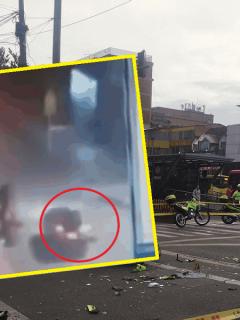 Se conoce video de choque de policía que murió en Marly; carro se pasó semáforo en rojo