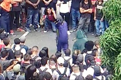 Disturbios en Medellín