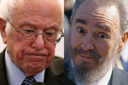 Bernie Sanders y Fidel Castro