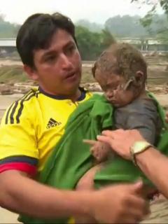 Rescatan bebé de 8 meses