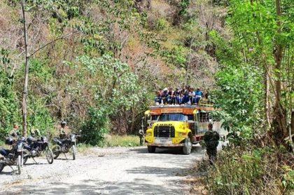 Regreso de familias a Ituango