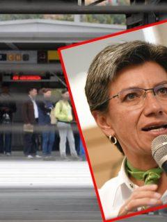 Claudia López anuncia reapertura de estaciones de TM, ofrece disculpas y pide paciencia