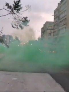 [Video] La extraña capa de gas verde que apareció en desmanes de este miércoles, en Bogotá