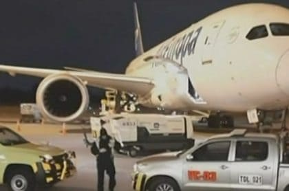 Avión al que no se quisieron subirse los viajeros