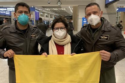 Colombianos en Wuhan