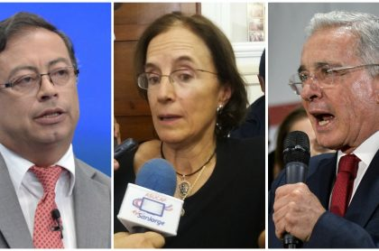 Gustavo Petro, Salud Hernández y Álvaro Uribe