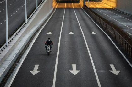 Calle en China vacía