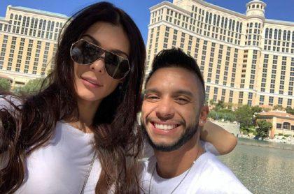 Danna Sultana, modelo, y su pareja Esteban Landrau.