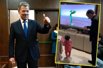Juan Manuel Santos y su nieta, Celeste