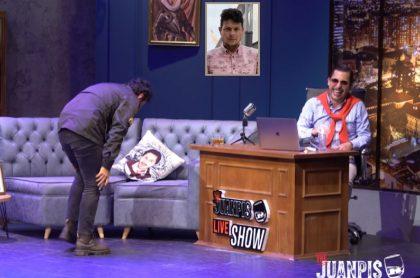 Julián Román, actor; Amador Padilla, presentador; y 'Juanpis' González, personaje interpretado por el humorista Alejandro Riaño.