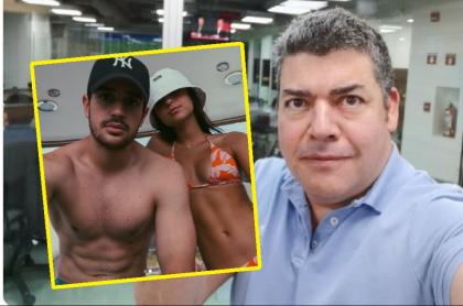 Juan José Lafaurie, su novia, Natalia Llinás y Gustavo Gómez