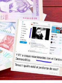 Imagen de referencia / Captura de pantalla del chat revelado por Daniel Coronell
