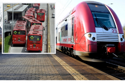 Transmilenio en Bogotá / Estación de tren en Dudelange, Luxemburgo
