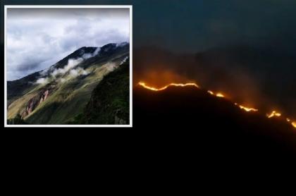 Montañas de Quetame, Cundinamarca / Incendio forestal en Quetame, Cundinamarca