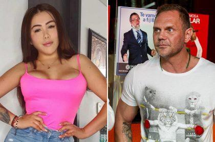 Yina Calderón, exprotagonista, y Nacho Vidal, actor porno.