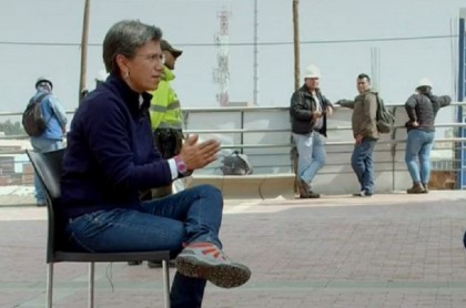 Claudia López, alcaldesa de Bogotá, en entrevista con Noticias Caracol