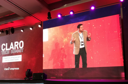 Carlos Zenteno, presidente de Claro Colombia en el Claro Tech Summit