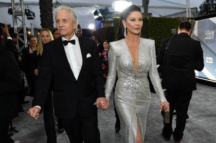 Michael Douglas, actor y productor, y su esposa Catherine Zeta-Jones, actriz.