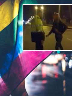 Agresión de mujeres trans a policías.