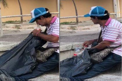 Vendedor ambulante de gaseosa
