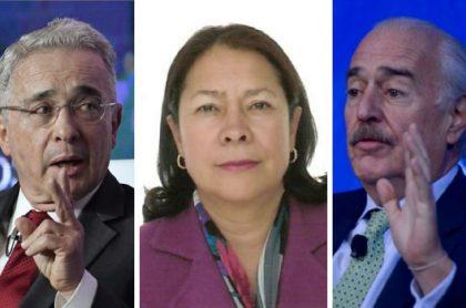 Álvaro Uribe, Amparo Cerón y Andrés Pastrana