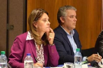 Vicepresidenta Marta Lucía Ramírez y presidente Iván Duque