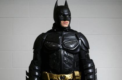 Actor con el traje de Batman