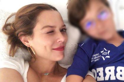 Carolina Acevedo y su hijo Mathias
