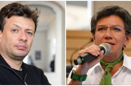 Hollman Morris y Claudia López.