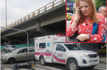 Accidente de ambulancia en el que se movilizaban la gerente del hospital Claudia Patricia Marín Alzate