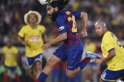 Juan Pablo Sorín en el partido Barcelona Legends