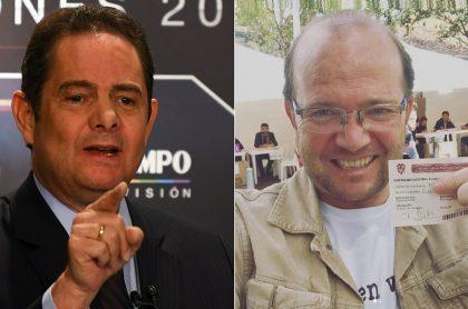 Germán Vargas Lleras, exvicepresidente, y Daniel Samper, periodista.
