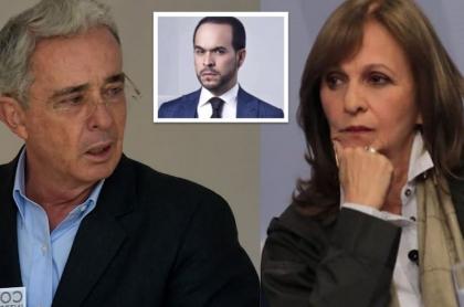 Ángela María Robledo y Álvaro Uribe Vélez.
