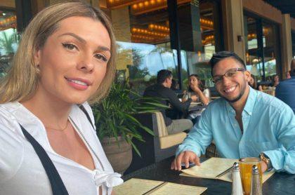 Danna Sultana y su novio Esteban Landrau