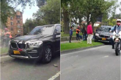 Conducto en escape atropella a más carros Bogotá