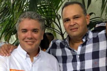 Iván Duque y José Guillermo 'Ñeñe' Hernández