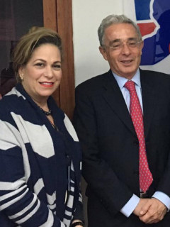 Maria Claudia Daza Castro y Álvaro Uribe Vélez