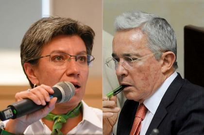 Álvaro Uribe habla de Claudia López como alcaldesa