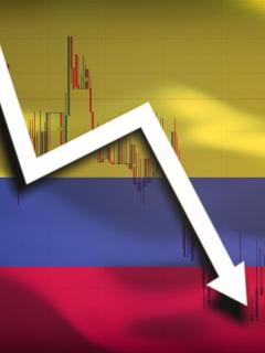 Caída en el Colcap de la Bolsa de Valores de Colombia