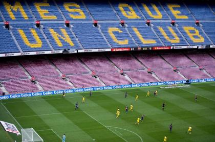 Camp Nou vacío para Barcelona Napoli