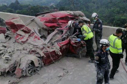 Accidente vía Bogotá-La Vega
