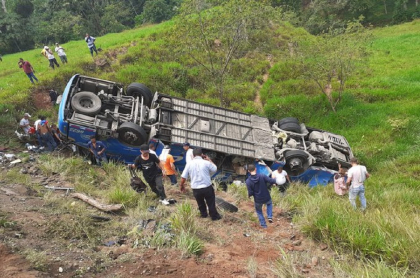 Accidente de bus en Antioquia