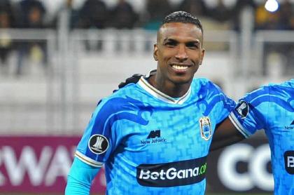Imagen del jugador colombiano Johan Arango